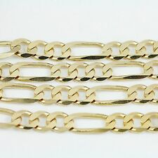 "10k Yellow Gold Figaro Chain Necklace 18""(new, 21.60g)#2488b"