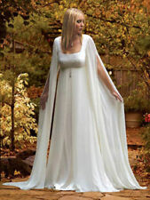 Stylish Mediaeval Long Sleeves Chiffon Wedding Dress Bridal Gown Greek Style
