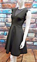 NEXT BLACK FRILL SLEEVE SKATER DRESS Sizes 10,12,14,16,20