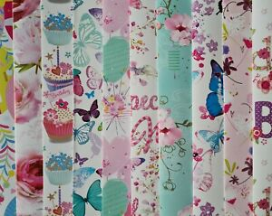 10 SHEETS OF GOOD QUALITY THICK GLOSSY FEMALE BIRTHDAY WRAPPING PAPER