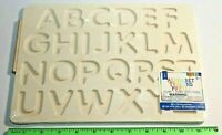 Alphabet Wooden Tracing Puzzle Home School Learning Letter Writing Toy - NWT