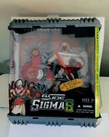 "GI Joe Sigma 6 8"" Razor Ninja Storm Shadow Set Backpack Spinning Blades 2006"