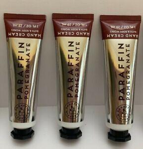 3 Bath & Body Works Hand Cream Paraffin Pomegranate Travel Size New
