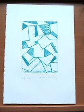 PIERO DORAZIO Pregiata e Rara PUNTASECCA  cm.37,5x27,4