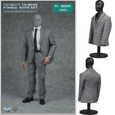 """Toyscity 1/6 Scale Grey Mens Formal Suits Set for 12"""" Phicen Male Figure Body"""