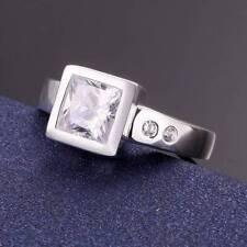 Joyería de Moda Plata Esterlina 925 Piedra claro elegante Amante Anillos S 8/Q