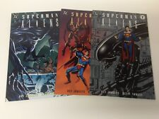 SUPERMAN / ALIENS BOOK #1-3 (DARK HORSE/DC/KEVIN NOLAN/011859) FULL SET LOT OF 3