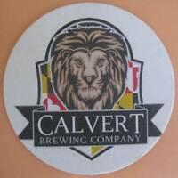 CALVERT BREWING COMPANY Beer COASTER Mat with LION Upper Marlboro, MARYLAND 2016