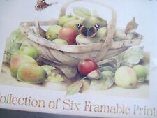 Marjolein Bastin Collection of Six Framable Nature Prints 11� x 14�.