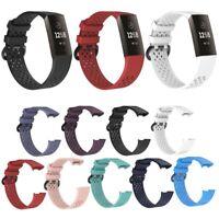 Für Fitbit Charge3 Uhrenarmband Ersatz Silikon Breathable Strap Armband