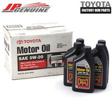 GENUINE OEM 5W20 TOYOTA SYNTHETIC ENGINE MOTOR OIL 00279-1QT20 CASE OF 5 QTS