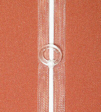 10m Raffrolloband transparent 15mm mit Gardinenringe Gardinenband Meterware