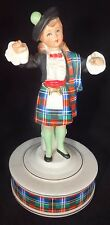 Figurine Music Box with a Scottish Motif