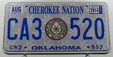 """USA Nummernschild aus Oklahoma """"Cherokee Nation"""" Indianerschild mit Wappen.11533"""