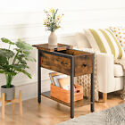 HOOBRO+End+Table+Flip+Top+Side+Table+with+Storage+Shelf+Narrow+Nightstand+Rustic