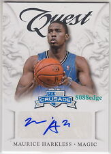 2012-13 PANINI CRUSADE AUTO: MAURICE HARKLESS #63 AUTOGRAPH ORLANDO MAGIC