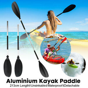 2IN1 Alu Doppelpaddel Kajak Paddel Stechpaddel Für Kayak SUP Stand-Up Board Rude
