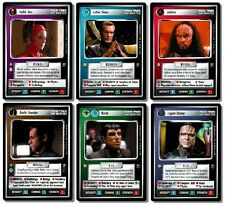 STAR TREK CCG : SECOND 2ND ANTHOLOGY SEALED 6-CARD SET