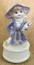 """Vintage Music Boxes-Boy w/ Book Music Box by E Stauffer-6 3/4"""" Tall-Very Nice!"""