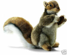 """NEW with Tags Squirrel Life Like Holding Nut Stuffed Plush 8.5"""" Hansa Toys 3745"""