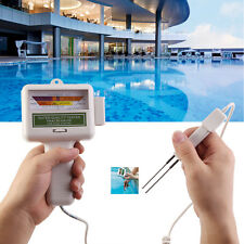 PH Chlorine Level Tester Swimming Pool Spa Water Quality Monitor Gray White