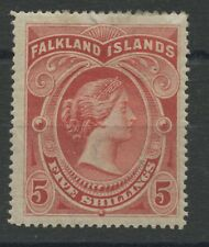 Falkland Islands SG42 5s Mounted mint (small repair at top of stamp)
