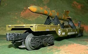 K-line Depressed Flatcar Missile Launcher ~ US ARMY ~ Rd# DODX 6651 - RARE - O27