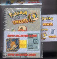 POKEMON STICKER SET SERIES 1 BOX (30 PACKS) COLLECTION ALBUM OVER 300 STICKERS!