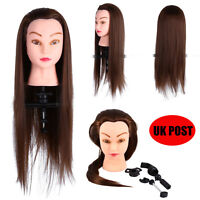 "26"" 30% Real Hair Training Mannequin Doll Head Hairdressing Clamp Cheap Price UK"