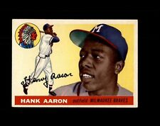 New listing 1955 TOPPS #47 HANK AARON BRAVES NM to NM+