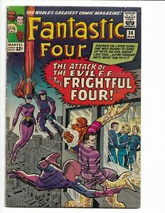 FANTASTIC FOUR 36 - VG 4.0 - 1ST APPEARANCE OF THE FRIGHTFUL FOUR (1965)