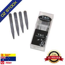 Collar Stay For Men's Shirt Silver Soild Metal 24 pcs 2.3,2.5,2.75,3 Y&G CS3019