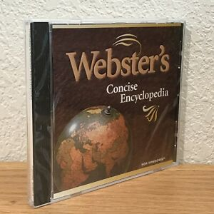 Webster's Concise Encyclopedia PC CD-ROM 1996 Windows 95/3.1 720286103805 SEALED