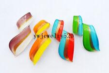 Wholesale Lots 12Pcs Colorful Murano Glass Pendant Fit Necklace FREE