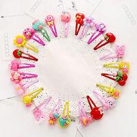 20pcs Girls Hairpin Mixed Assorted Baby Kid Children Cartoon Hair Pin Clips Set