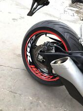 CBR1000RR Front Rear Wheel Wide Rim Stripe Reflective Sticker Full Set For Honda
