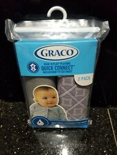 Graco Pack N Play Playard Quick Connect fitted sheet 2 Pack Taylor/Frost Gray