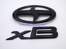 Scion xB Carbon Fiber Emblems 08-15 Genuine OEM Badge Rear Liftgate Trunk Logo