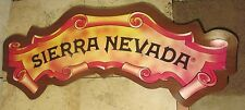 "Sierra Nevada Beer Wood Laminate Bar Sign Large 46"" X 15"" Rare"