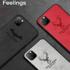 Luxury Batman Christmas Deer Cloth Case For iPhone 11 Pro Max XR XS X 6 7 8 Plus