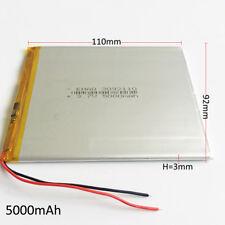 ultra thin 3.7V 5000mAh LiPo Battery For Ipod PAD Power Bank Tablet PC 3092110