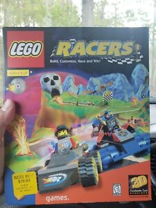 Complete Big Box LEGO Racers PC CD-ROM Game Rare