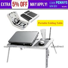 Laptop Desk Foldable Table e-Table Bed with USB Cooling Fans Stand TV Tray AU