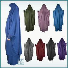 2 pieces Jilbab Set Khimar+Skirt Hijab Abaya Maxi Ready Headscarf Prayer Dress
