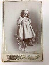 Victorian Era Children's Clothing Pretty Girl Card