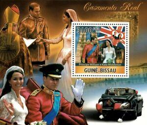 Guinea-Bissau 2011 - Royal Wedding, Prince William and Kate - Souvenir Sheet MNH