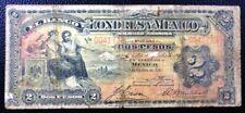 MEXICO BANKNOTE 2 Pesos, P.S241  F  1914 (Banco Londres y Mexico)