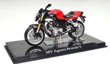 MV AGUSTA BRUTALE S Rojo Escala 1:24 modelo de motocicleta de Atlas die-cast