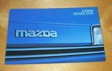 MAZDA  E2000 PANEL VAN SALES BROCHURE May 1984 Pub no. E2000/5/84 MAZDA UK Pub