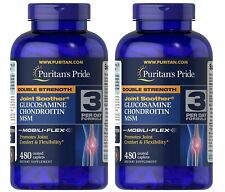 Puritan's Double Strength Glucosamine Chondroitin & MSM Joint Soother - 480